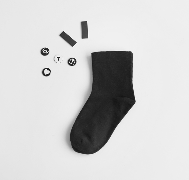 Basic Black Crew Socks