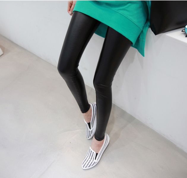 Glossy Black Leggings