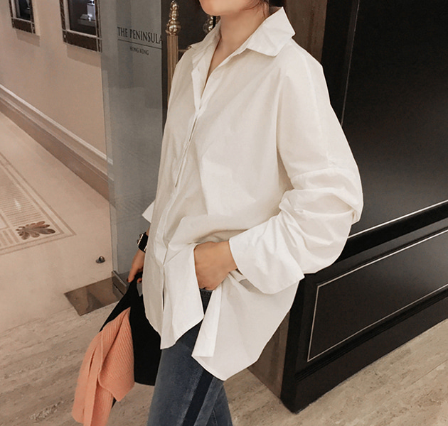 Solid Tone Point Collar Shirt