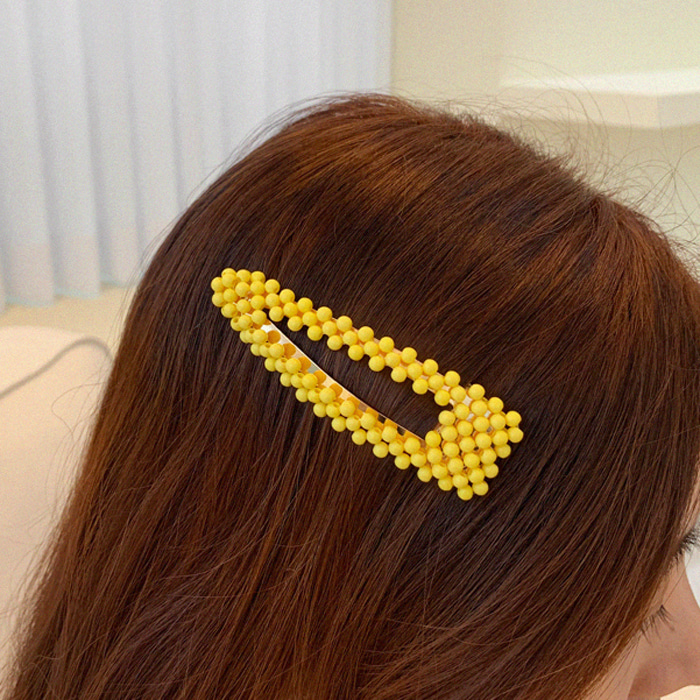 Beaded Large Snap Hair Clip